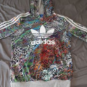 Adidas kids large multicolored hoodie great shape